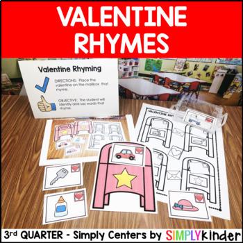Valentine's Day Rhyming Center - Simply Centers Kindergarten Center