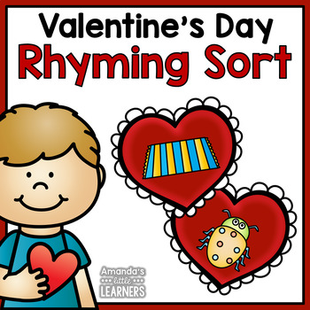 Valentine's Day Rhyming Words Matching