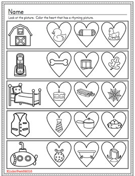 Valentine's Day Rhyming Puzzles