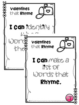 Valentine's Day Rhyming Words and Grammar Activities Printables