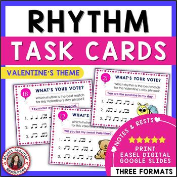 Valentine's Day Rhythm Task Cards