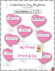 Valentine's Day Music Activities: Rhythm and Aural Activities SET 1