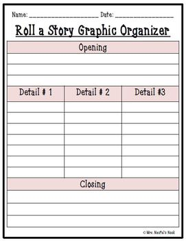 Valentine's Day Roll a Story - Story Prompts, Graphic Organizers, Lists, Rubric
