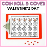 Valentine's Day Roll and Color Addition and Coins