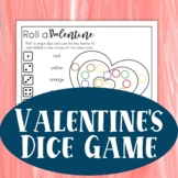 Valentine's Day Roll and Cover Preschool Dice Game | Roll