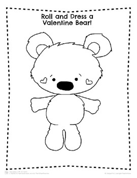 Valentine's Day Roll and Dress a Bear Activity!