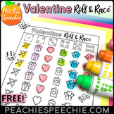 Valentine's Day Roll and Race - Open Ended Dice Game