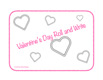 Valentine's Day Roll and Write