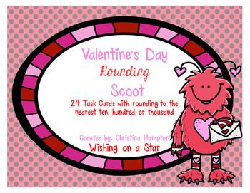 Valentine's Day Math Rounding Scoot