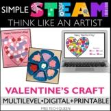 Valentine's Day STEAM Challenge - Valentine Shapes - Art & Writing