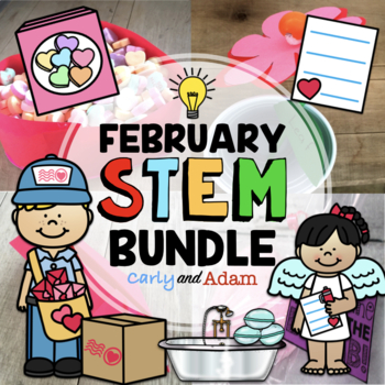 Valentine's Day STEM Activity Bundle: 4 Activities included