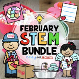 Valentine's Day STEM Activities and Valentine's Day STEM Challenges Bundle