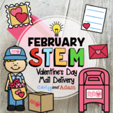 Valentine's Day Card Air Mail Delivery Valentine's Day STE