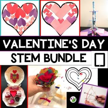 Valentine's Day STEM Challenge Bundle 1:1 Paperless Version