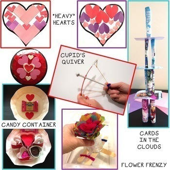 Valentine's Day STEM Challenge Bundle 1:1 Paperless Version