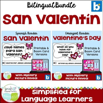 Valentine's Day ~ San Valentín Readers & Build-a-Books {Bilingual Bundle}