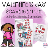 Valentine's Day Scavenger Hunt Adapted Books