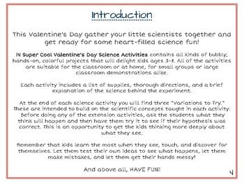 Valentine's Day Science Activities