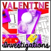 Valentine's Day Science, Candy Heart Science, Investigatio