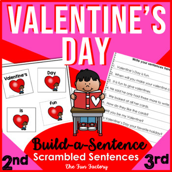 Valentine's Day ~Scrambled Sentences~ Sight Words~1st-3rd Grades