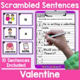 Valentine's Day Scrambled Sentences Center