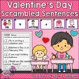 Valentine's Day Scrambled Sentences Center