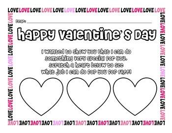 Valentine's Day Scratch and Win Craft