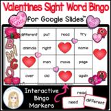 Valentine's Day Second 100 Sight Words Interactive Bingo G