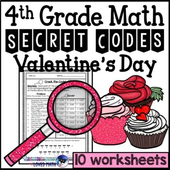 valentines day secret code math worksheets th grade common core