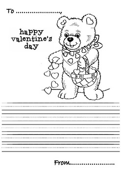 Valentine's Day Secret Note Paper (Coloring Pages + Writing Activities)