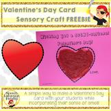 Valentine's Day Card Sensory Craft FREEBIE