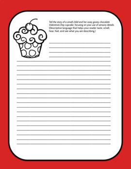 Valentine's Day Sensory Writing Prompts, ELA 6-12
