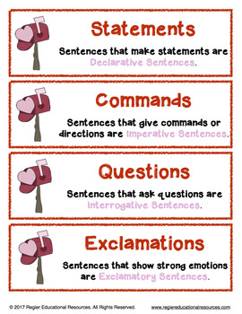 Valentine's Day Sentence Sort: Literacy Center Activity