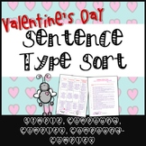 Valentine's Day Sentence Type Sort - Simple, Compound, Com