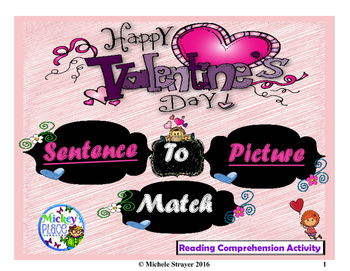 Valentine's Day Sentence to Picture Match