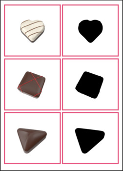 Valentine's Day Shadow Matching Activity