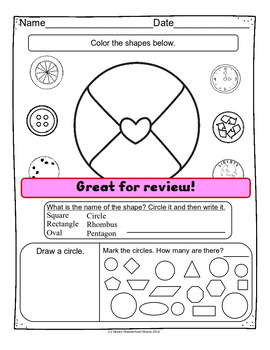 Valentine's Day Shape Review with Valentine Shapes