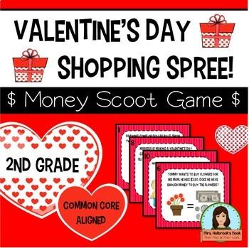 Valentine's Day Money Scoot Game (Common Core Aligned)