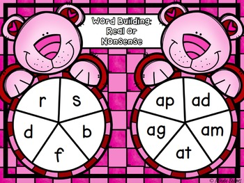 Valentine's Day Short Vowel Activity Pack
