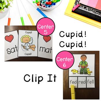 Valentine's Day Short Vowel Centers