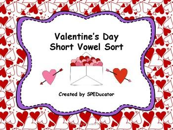 Valentine's Day Short Vowel Matching Game