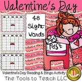 Valentine's Day Sight Word Bingo Game No Prep