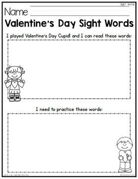 Valentine's Day Sight Words Game