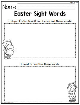 Easter Sight Word Game