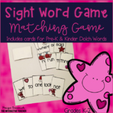 Valentine's Day Sight Word Game Go Fish, Dolch Words Pre-K & K
