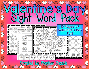 Valentine's Day Sight Words