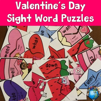 Valentine's Day Sight Word Puzzles