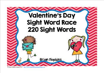 Valentine's Day Sight Word Race