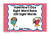 Valentine's Day Sight Word Race