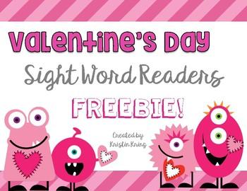 Valentine's Day Sight Word Readers FREEBIE!